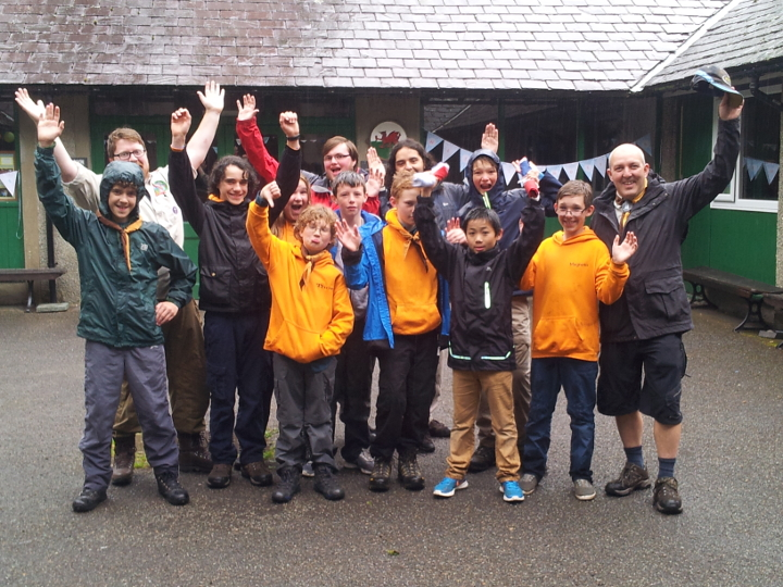 23rd Lancaster Scouts at Felin Bach, in Wales