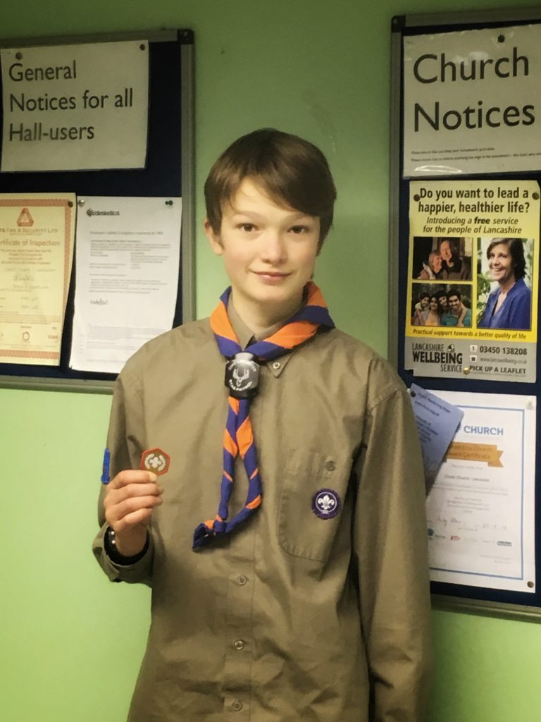 James with his Gold Award