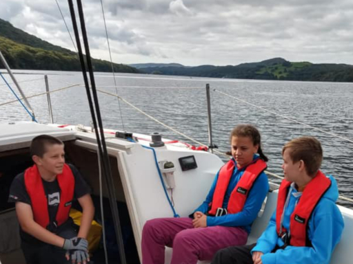 Scouts yachting on Coniston.